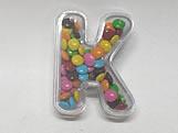 Letra Caixa K Cristal, Medidas: 6 X 8 X 2.5 cm