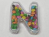 Letra Caixa N Cristal, Medidas: 6.5 X 8 X 2.5 cm
