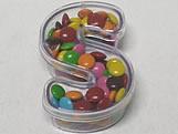 Letra Caixa S Cristal, Medidas: 5 X 8 X 2.5 cm