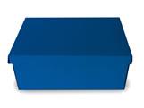 Caixa Organizadora Pequena Azul, Medidas: 35 X 25 X 14 cm