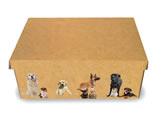 Caixa Organizadora Pequena Cães, Medidas: 35 X 25 X 14 cm