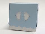 Caixa Pezinho Azul Claro, Medidas: 7.5 X 7.5 X 7.5 cm