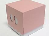 Caixa Pezinho Rosa, Medidas: 7.5 X 7.5 X 7.5 cm