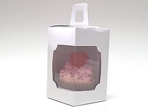 Caixa de Acetato Caixa para 1 Mini Cupcake Combo-25