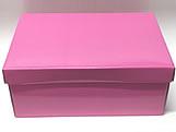 Caixa Organizadora Pequena Rosa, Medidas: 35 X 25 X 14 cm