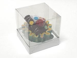 Caixa para 1 Cupcake Padrão Combo-10, Medidas: 7.5 X 7.5 X 7.5 cm