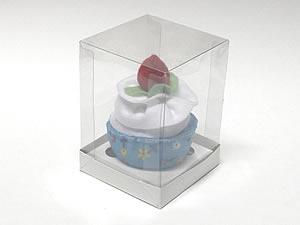 Caixa para 1 Cupcake Padrão Combo-12, Medidas: 8.5 X 8.5 X 12 cm