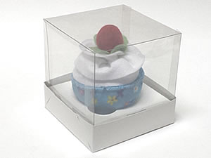Caixa para 1 Cupcake Padrão Combo-13, Medidas: 10 X 10 X 10 cm