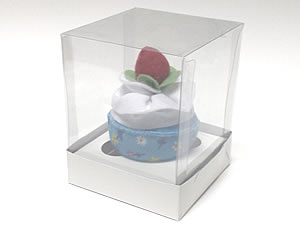 Caixa para 1 Cupcake Padrão Combo-14, Medidas: 10 X 10 X 12.5 cm