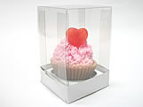 Caixa para 1 Mini Cupcake Combo-2, Medidas: 6 X 6 X 9.5 cm