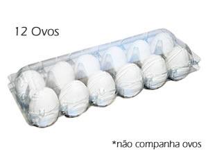 Caixa 12 Ovos, Medidas: 29 x 10.5 x 7 cm