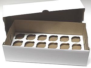 Caixa para 18 Mini Cupcakes Combo-6, Medidas: 35.1 X 17.5 X 10.1 cm