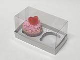 Caixa de Acetato Caixa para 2 Mini Cupcakes Combo-3