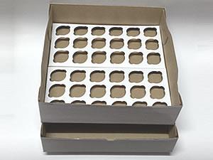 Caixa para 36 Mini Cupcakes Combo-7, Medidas: 35.1 X 35.1 X 10.1 cm