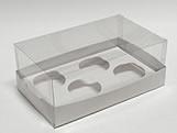 Caixa de Acetato Caixa para 4 Mini Cupcakes Combo-4