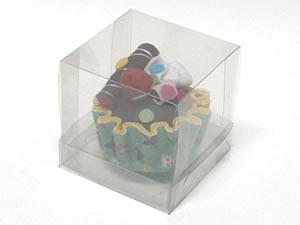 Caixa para 1 Cupcake Padrão Combo-20, Medidas: 7.5 X 7.5 X 7.5 cm