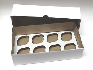 Caixa para 8 Cupcakes Combo-18, Medidas: 35.1 X 17.5 X 10.1 cm