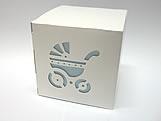 DV-10 Carrinho de Bebê com Forro Azul Claro, Medidas: 8.5 X 8.5 X 8 cm