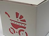 DV-10 Carrinho de Bebê com Forro Vermelha, Medidas: 8.5 X 8.5 X 8 cm