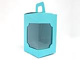 DV-12 Lisa Azul Turquesa, Tiffany, embalagem com visor