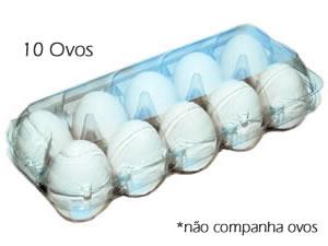 Caixa 10 Ovos, Medidas: 24 x 10.5 x 7 cm