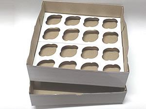 Caixa para 16 Cupcakes Combo-19, Medidas: 35.1 X 35.1 X 10.1 cm