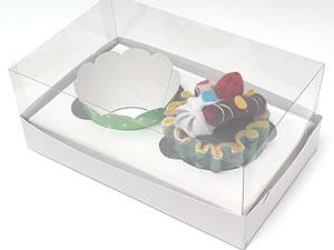 Caixa para 2 Cupcakes Padrão Combo-15, Medidas: 17.6 X 11 X 9 cm