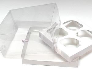 Caixa para 4 Cupcakes Padrão Combo-16