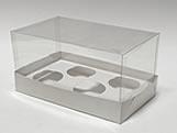 Caixa para 4 Mini Cupcakes Combo-5, Medidas: 17.6 X 11 X 9 cm