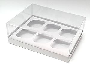 Caixa para 6 Cupcakes Padrão Combo-17