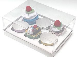 Caixa para 6 Cupcakes Padrão Combo-17, Medidas: 25 X 19 X 9 cm