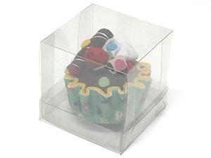 Caixa para 1 Cupcake Padrão Combo-21, Medidas: 8.5 X 8.5 X 8.5 cm