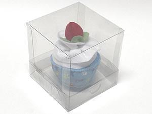 Caixa para 1 Cupcake Padrão Combo-23, Medidas: 10 X 10 X 10 cm