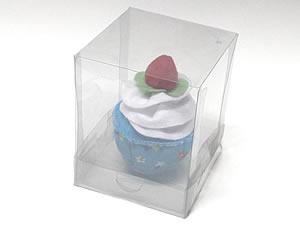 Caixa para 1 Cupcake Padrão Combo-24, Medidas: 10 X 10 X 12.5 cm