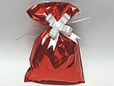 Saco de Presente Liso Vermelho 20x30 Metalizado, Medidas: 20 x 30 cm
