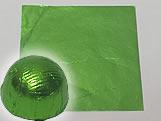 Papel Chumbo Aluminio 10x10cm Verde Cana, Medidas: 10 X 10 X 1 cm