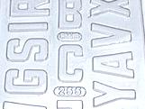 Forma Abecedário1 55g Ref.255 BWB, Medidas: 24 x 18.5 x 0.4 cm
