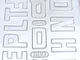 Forma Abecedário2 60g Ref.256 BWB, Medidas: 24 x 18.5 x 0.4 cm