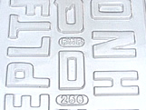 Forma Abecedário2 60g Ref.256 BWB