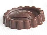Forma com Silicone Biscoito Recheado Coração 15g Ref.875 BWB