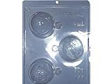 Forma com Silicone Bolas Enfeites de Natal 55g Ref.155 BWB