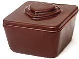 Forma com Silicone Mini Caixa Coração Ponteado Especial 50g Ref.838 BWB