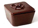 Forma com Silicone Caixa Coração com Rosinha 50g Ref.839 BWB, Medidas: 24 x 18.5 x 3.7 cm