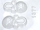 Forma Chocalho Bebe 15g Ref.1377 BWB, Medidas: 24 x 18.5 x 1.2 cm