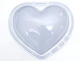 Forma com Silicone Coração 1kg Ref.47 BWB, Medidas: 24 x 18.5 x 10 cm