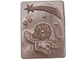 Forma Placa Anjinho 175g Ref.184 BWB, Medidas: 24 x 18.5 x 0.5 cm