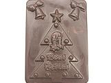 Forma Placa Arvore de Natal Boas Festas 167g Ref.181 BWB, Medidas: 24 x 18.5 x 0.7 cm