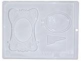 Forma Porta Retrato Grande 100g Ref.9303 BWB, Medidas: 24 x 18.5 x 1 cm