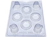 Forma com Silicone Xícara e Pires 10g Ref.1058 BWB, Medidas: 24 x 18.5 x 3 cm