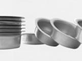 Forma de Aluminio Pão de Mel Redondo nº1 Ref.5065 BWB, Medidas: 5.2 x 5.2 x 2 cm